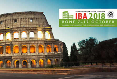 IBA Annual Conference Rome 2018 preview