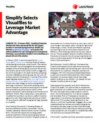 Simplify Selects Visualfiles to Leverage Market Advantage preview