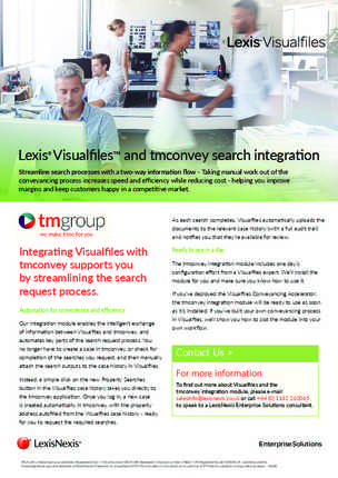Lexis® Visualfiles™ and tmconvey search integration preview